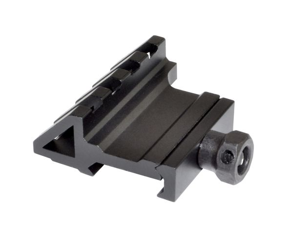 45 Degree Offset Picatinny 4 Slot Rail Mount