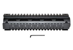 "Sniper® 2 Piece Drop In Quad Rail Handguard. Fits AR-10 .308, 8.75"" Mid Length, Triangle End Cap"