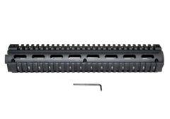 "AR15 2 Piece Handguard Quad Rail Mount, Rifle Length 12"""