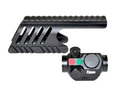 Remington 870 Shotgun Low Profile Handguard Rail Mount and Presma® Red Hawk Series 20mm Compact Reflex Red/Green Dot Scope Combo