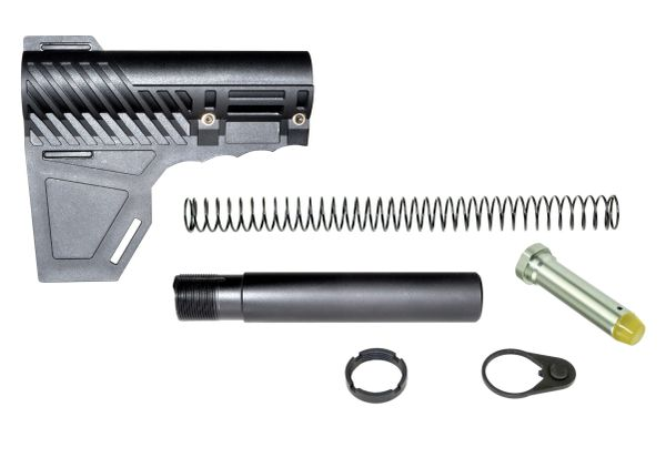 Brand New Patented Design from Presma Inc! Stabilizing Fin™ for Pistols, with Complete Buffer Kit
