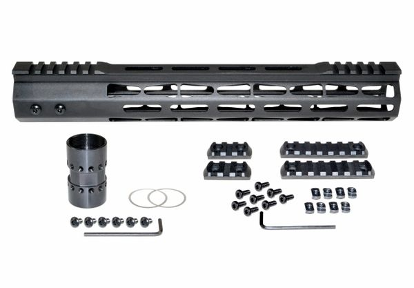 Presma® Super Light Weight Free Float M-LOK Handguard with Partial Top Rail for 223/5.56, 13""