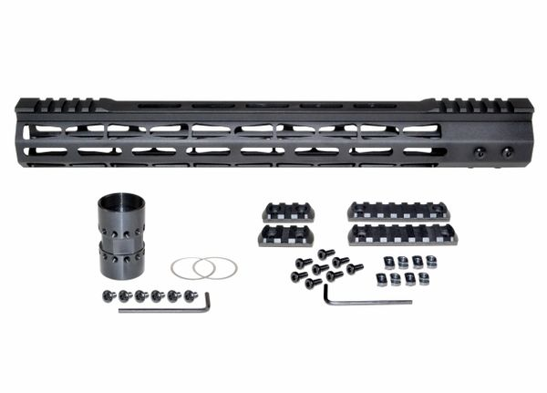 Presma® Super Light Weight Free Float M-LOK Handguard with Partial Top Rail for 223/5.56, 15""