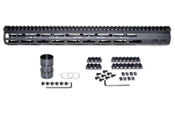 Presma® Super Light Weight Free Float M-LOK Handguard with Full Top Rail for DPMS LR .308 Low Profile, 17""