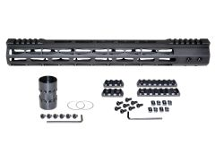 """Presma® Super Light Weight Free Float M-LOK Handguard with Partial Top Rail for DPMS LR .308 Low Profile, 15"""""""