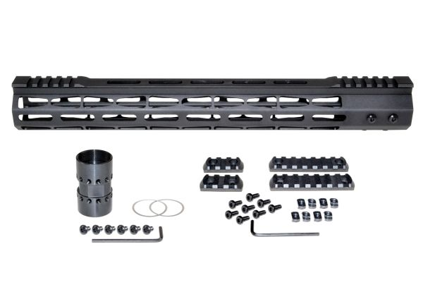 Presma® Super Light Weight Free Float M-LOK Handguard with Partial Top Rail for DPMS LR .308 Low Profile, 15""