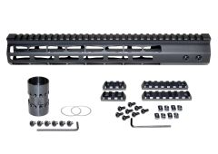 Presma® Super Light Weight Free Float M-LOK Handguard with Full Top Rail for DPMS LR .308 Low Profile, 13""