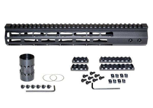 """Presma® Super Light Weight Free Float M-LOK Handguard with Full Top Rail for DPMS LR .308 Low Profile, 13"""""""