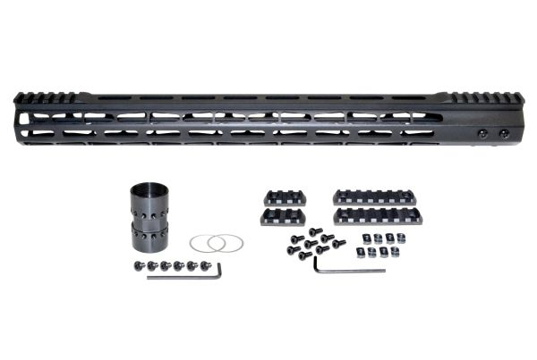 """Presma® Super Light Weight Free Float M-LOK Handguard with Partial Top Rail for 223/5.56, 19"""""""