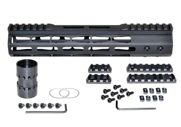 """Presma® Super Light Weight Free Float M-LOK Handguard with Partial Top Rail for 223/5.56, 10"""""""