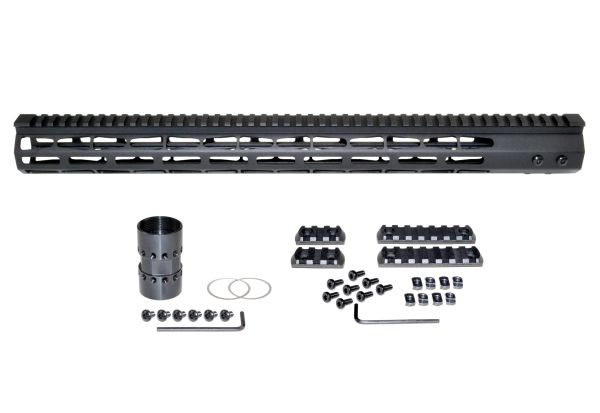 """Presma® Super Light Weight Free Float M-LOK Handguard with Full Top Rail for DPMS LR .308 Low Profile, 19"""""""
