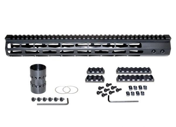 Presma® Super Light Weight Free Float M-LOK Handguard with Full Top Rail for 223/5.56, 15""