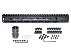 Presma® Super Light Weight Free Float M-LOK Handguard with Full Top Rail for DPMS LR .308 Low Profile, 15""