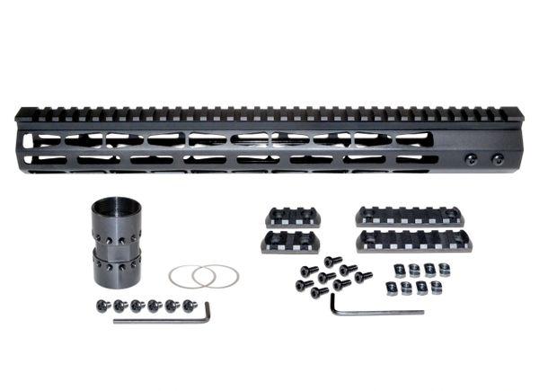 """Presma® Super Light Weight Free Float M-LOK Handguard with Full Top Rail for DPMS LR .308 Low Profile, 15"""""""