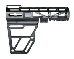 Skeletonized Pistol Arm Brace, Black Anodized Aluminum