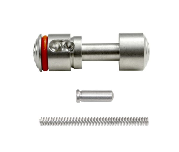 Push Button Safety for 223/308 with Pin and Spring, Stainless Steel