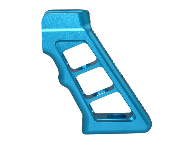 Skeletonized Rear Pistol Style Grip, Blue Anodized Aluminum