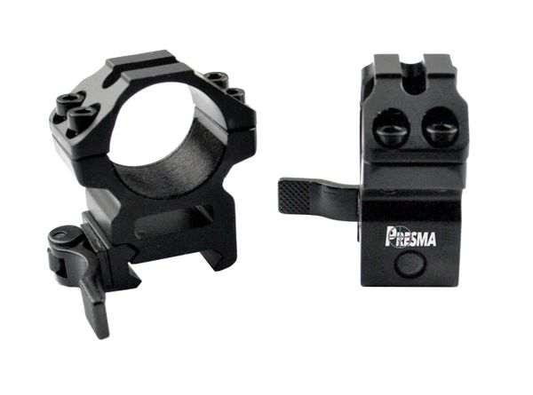 Presma® Wing Series, 1 inch Quick Release Scope Rings, Medium Profile