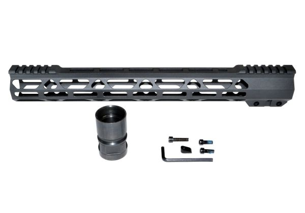 "New Presma® Super Light Slim Free Float M-LOK Handguards with Partial Top Rail, 15"" fits 223/5.56."
