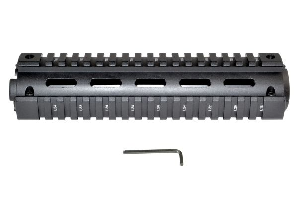 2 Piece Drop In Handguard Quad Rail Mount for 223/5.56, Mid Length 8.7""