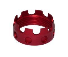 Enhanced Castle Nut for AR .223/5.56/.308 Buffer Tube Receiver End Plates, Dark Red
