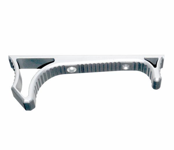Lightweight Aluminum Hand Stop for M-LOK Slots, Silver
