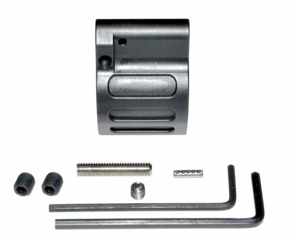 "Low Profile Adjustable Micro Gas Block with Pin for 0.750"" Diameter Barrel (for .223 and 5.56 AR-15)"