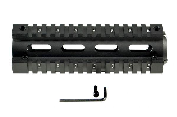 "2 Piece Drop In Handguard Quad Rail Mount for 223/5.56, Carbine Length 6.7"""