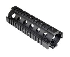 AR15 2 Piece Drop In Handguard Quad Rail Mount, Carbine Length 6.7""