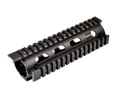 AR15 2 Piece Drop In Handguard Quad Rail Mount with Extended Top Rail, Carbine Length 6.7""