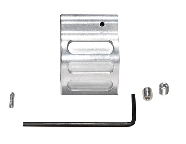 """Low Profile Micro Gas Block with Pin for 0.750"""" Diameter Barrels, Stainless Steel"""