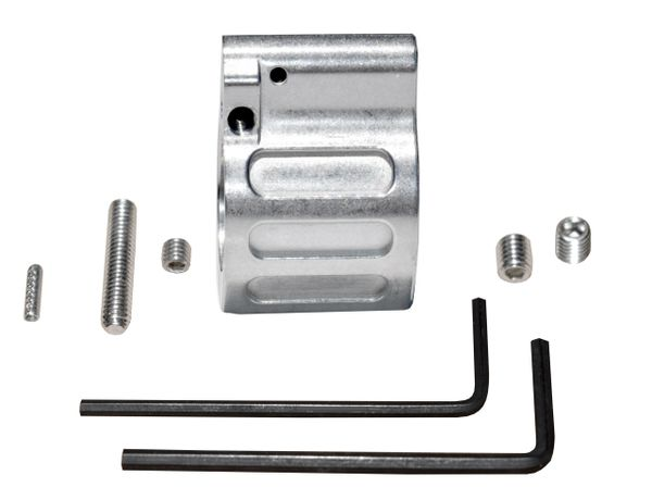 """Low Profile Adjustable Micro Gas Block with Pin for 0.750"""" Diameter Barrel, Stainless Steel"""