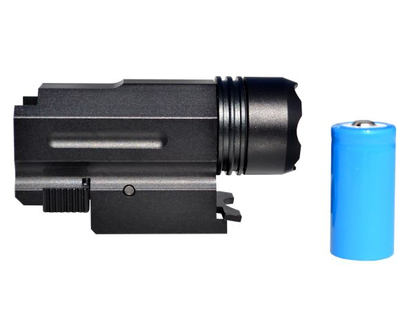 Kexuan Compact Tactical Flashlight with Picatinny Rail Mount