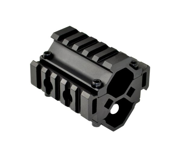 3 Piece High Profile Barrel Mount with Tri Rails
