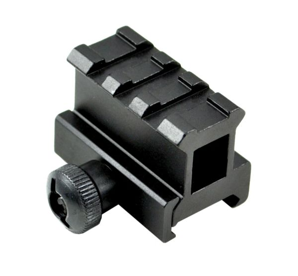 "1"" High Profile Riser Mount - 3 Picatinny Slots"
