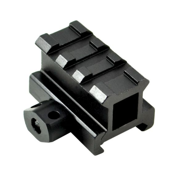 "0.83"" Medium Profile Riser Mount - 3 Picatinny Slots"