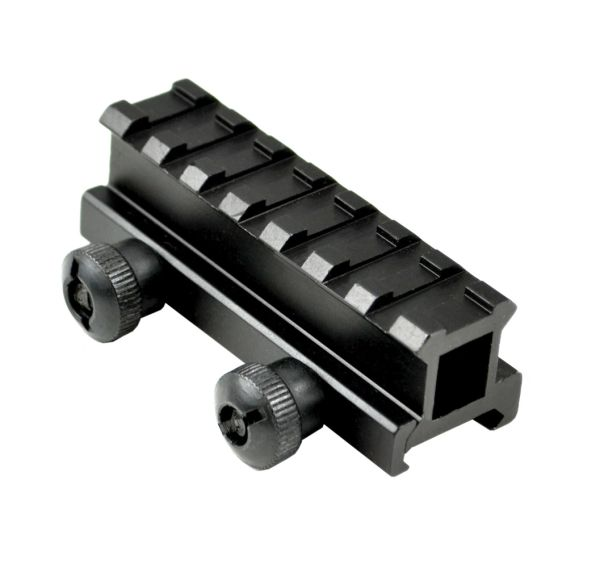 "0.83"" Medium Profile Riser Mount - 7 Picatinny Slots"