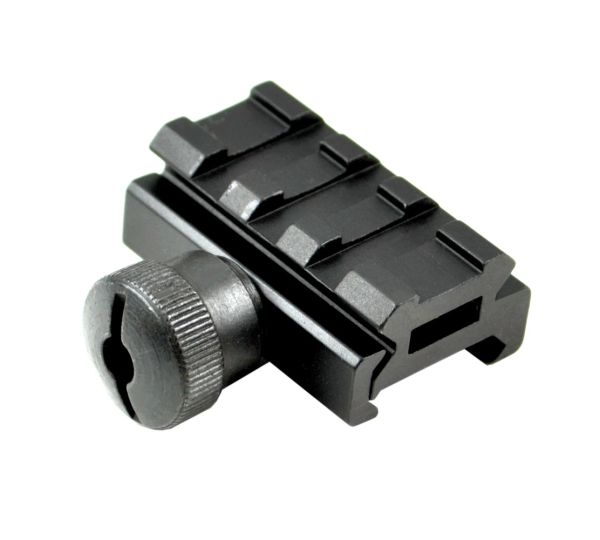 "0.5"" Low Profile Riser Mount - 3 Picatinny Slots"