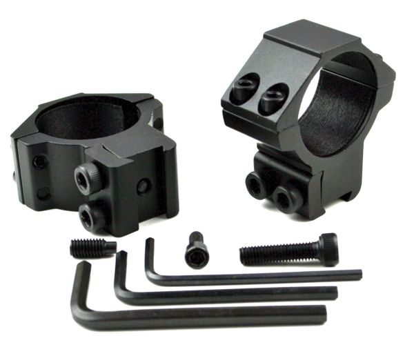 Medium Profile 30mm Scope Rings for Dovetail System