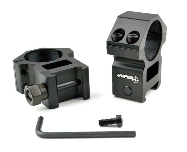 "High Profile 1"" Scope Rings for Picatinny System"