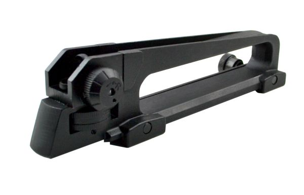 Standard Size Carry Handle with Flat Top Mount Area and Rear Sight