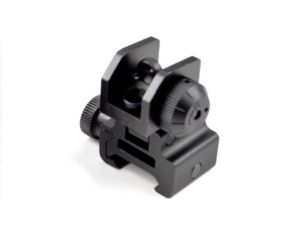 Tactical Flip Up Rear Sight with Dual Aiming Aperture