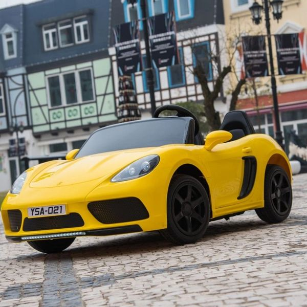 Porsche Style Yellow with Remote OR step on pedal and go