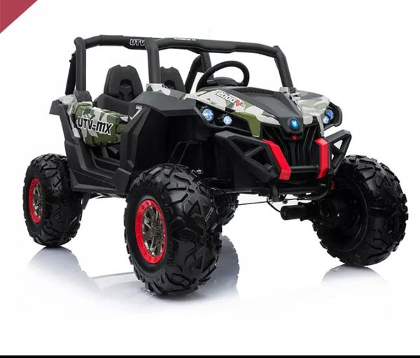 40% OFF TOUCH TV , 24v , UTV MX 2000, ATV, RAZOR STYLE, PARENTAL REMOTE CONTROL OR PRESS ON PEDAL AND GO.. LEATHER SEAT , RUBBER TIRES , 4WD .