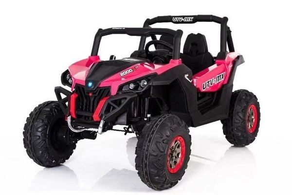 ($50 Layaway First Payment) TOUCH TV , UTV MX 2000, ATV, PINK REMOTE CONTROL OR PRESS ON PEDAL AND GO.. LEATHER SEAT , RUBBER TIRES , 4WD .