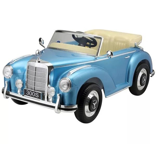 Licensed Mercedes 300s Ride on with parental remote and manual Radio MP3 leather seat rubber tires Spray painted