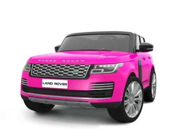 TOUCH TV , 24V , GIANT LICENSED LAND ROVER / RANGE ROVER , AGES 2-7 , PARENTAL REMOTE CONTROL OR PRESS ON PEDAL AND GO.. LEATHER SEAT , RUBBER TIRES , 4WD