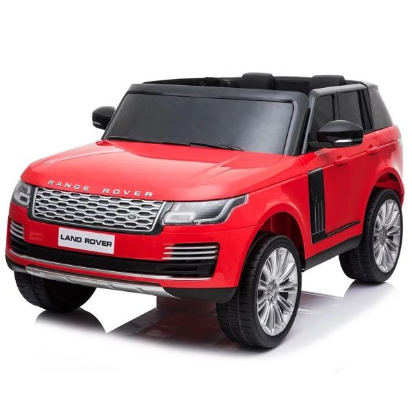 TOUCH TV , 24V , GIANT LICENSED LAND ROVER/ RANGE ROVER , PARENTAL REMOTE CONTROL OR PRESS ON PEDAL AND GO.. LEATHER SEAT , RUBBER TIRES , 4WD .