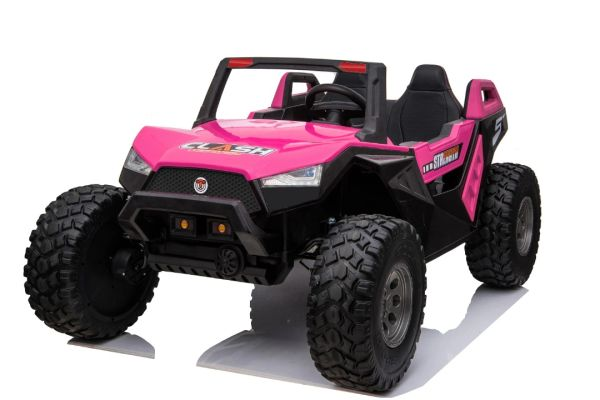 24v Touch TV Giant UTV RIDE WITH REMOTE OR PRESS ON PEDAL AND GO .. BUGGY RUBBER TIRES LEATHER SEAT