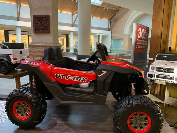 Touch TV UTV Razor 24V Rubber Tires leather Seat two seater